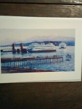 WASHINGTON STATE FERRIES  GREETING CARD FERRY DOCK AT EDMOND'S WASHINGTON