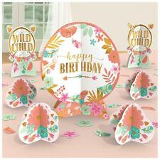 Boho Table Decorating Kit Happy Birthday Party Decoration Wild Child Centerpiece