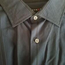 Synrgy Men's Dress Shirt Navy Blue Long Sleeve 2XL