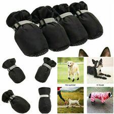 BINGPET Dog Shoes Waterproof Boots, Paw Protectors w/ Reflective Adj Straps M