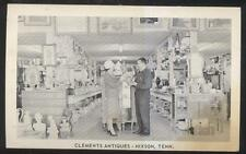 Postcard HIXSON Tennessee/TN  Clements Antique Shop Interior view 1940's