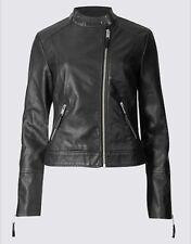 BNWT M&S Collection Twin Pocket Zipped Moto Jacket Size 20 UK