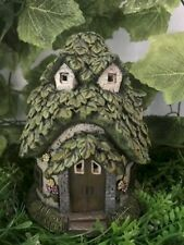 Fairy Garden-Cottage with Leaf Roof/Lights