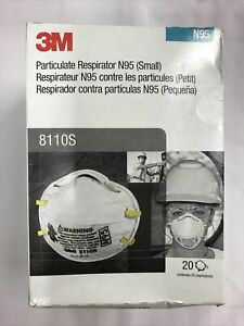 3M 8110s N Grade 95 Expiry 2023 pack of 20  Made in USA