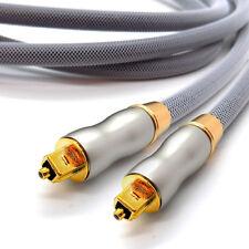 OPTICAL DIGITAL AUDIO Lead 0.5 - 10m TOSLink SPDIF Surround Sound Platinum Cable