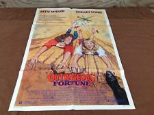1987 Outrageous Fortune Original Movie House Full Sheet Poster