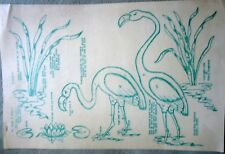 Set of 3 Polly-Dell stencils Videll Dougherty1959 FLAMINGO Pattern 43644 uncut