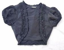 Living Dead Souls -Gothic Steampunk Black Crop Top Jacket Blouse Sz Small