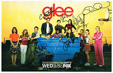 Glee Cast SIGNED 12x18 Poster Lea Michele Cory Monteith COA