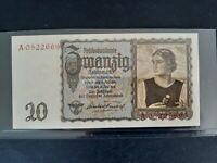 Banknote WW2 Germany 1939(UNC) 20 reichsmark.