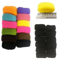 12 Large Hairbands Elastic Bobbles Thick Hair Endless Stretchy Ponytail Tie Snag