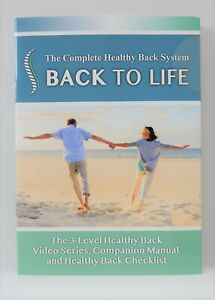 Back to Life DVD video series The Complete Healthy Back System 719104459781 NEW!