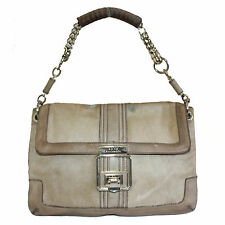 ANYA HINDMARCH LIGHT BROWN MOHAIR LEATHER SHOULDER BAG - FINAL SALE