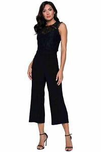 Frank Lyman Style 201460 Size UK 12 Black Jumpsuit Original Price £179.00