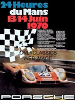 1970 LEMANS SCCA AUTO RACING POSTER PORSCHE 917 SPORTS CAR STEVE MCQUEEN FILMING