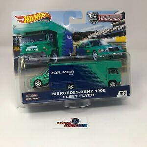 Mercedes-Benz 190E & Fleet Flyer * Hot Wheels Team Transport * NA15