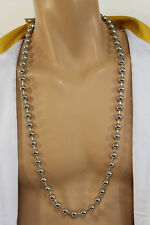 New Men Necklace Silver Metal Balls Classic Chain Long Fashion Hip Hop Jewelry