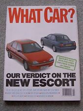 What Car (Oct 1990) Ford Escort, Elan, MR2,Saab CD, Rover 214, Tipo, Golf, Astra