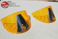 Custom Car Truck Hot Rod Amber Plastic Headlight Lamp Bulb Cover Visor Exterior