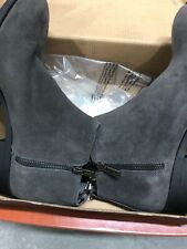 KENNETH COLE New York Women Leather Bootie Ankle Boot Side ZipperAsphalt 8.5 NWT