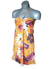 ROXY orange pink summer beach bikini dress T2 8-10 S