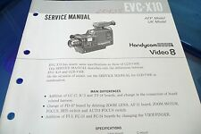 Service Manual Manual For sony EVC-X10, Original