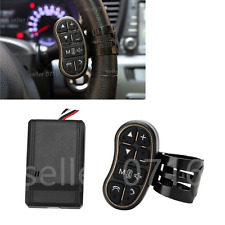 Black Car Steering Wheel Key Button Remote Control Handsfree Calling For GPS DVD
