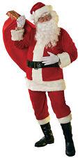 Velour Santa Suit Christmas Costume-Standard/Large ( Jacket Size 40-48 )