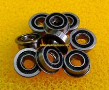 10 PCS - F6902-2RS (15x28x7 mm) Flange Rubber Sealed Ball Bearings BLK 15*28*7