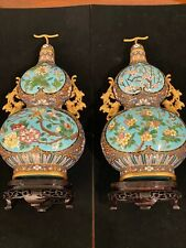 Chinese Gourd-Form Cloisonné Enamel Bottles 20th century