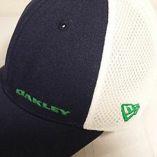 Oakley New Era  CAP HAT Golf Med-Large Fitted Blue White Green Logo