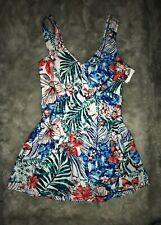 NWT Azul by Maxine of Hollywood Size 10 Floral SwimDress One Piece Swimsuit $99