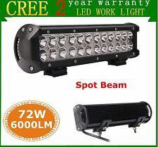 2X 12inch 72W CREE LED Work Light Bar Spot Off-road Driving SUV Boat Lamp Jeep
