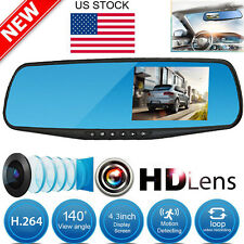 4.3'' HD 1080P Car DVR Video Recorder Camera Rearview Mirror Dash Cam G-sensor