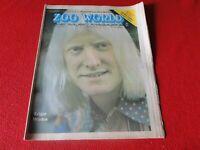 Vintage Rock N Roll Newspaper Pulp Magazine Zoo World 1974 Edgar Winter       P2