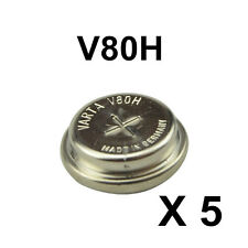 5 Genuine For VARTA V80H 1.2V Ni-MH Cell Button Rechargeable Battery 55608101501