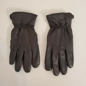 Thinsulate Insulation 40 Gram Black Genuine Leather Gloves Size S/M Small