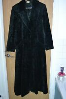 FABULOUS DRAMATIC FLOOR LENGTH FAUX ASTRAKHAN COAT BY EAST SZ 14 - READ WHOLE AD