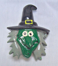 VINTAGE Scary WITCH PIN GREAT FOR HALLOWEEN BROOCH