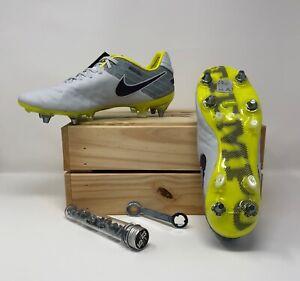Women's Nike Tiempo Legend 6 VI SG-PRO ACC Women's 8.5 Soccer Grey/Purple 827248