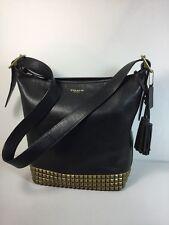 COACH 26413 LEGACY Black Leather Studded Duffle Crossbody Shoulder Bag