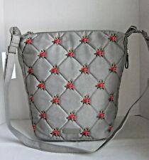Vera Bradley Denim Gray Carson Hobo Crossbody Messenger Bag Handbag