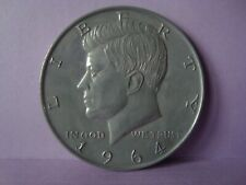 3 inch diameter Metal 1964 Kennedy Half Dollar Coin Replica Cake Topper