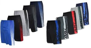 5 PACK MENS CASUAL BASKETBALL SHORTS PLAIN MESH SHORTS GYM FITNESS WORK OUT P.E