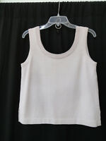 ST.JOHN COLLECTION santana KNIT SLEEVELESS TOP SIZE P pale lilac