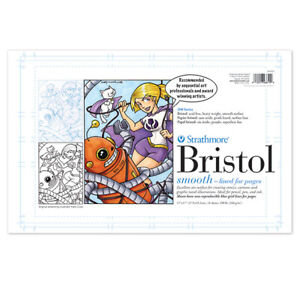"""Strathmore Sequential Paper 200 Series Blue Line Bristol 11x17"""" 24 Sheet Pad"""