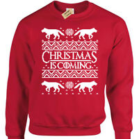 Christmas is Coming Jumper Mens funny xmas thrones winter sweatshirt gift game