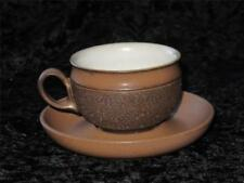 Denby Pottery Brown Cups & Saucers
