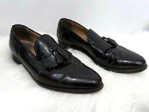 Johnston & Murphy Aristocraft Men's Wingtip Oxford Shoes Size 12 Oxblood Tassel