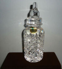 NOS 2000 sgnd WATERFORD GLASS - IRELAND - BABY BOTTLE all ORIGINAL TAGS - NICE!